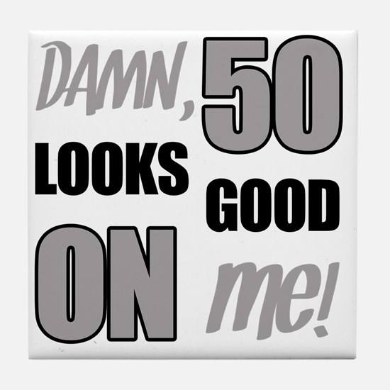 Funny 50th Birthday (Damn) Tile Coaster