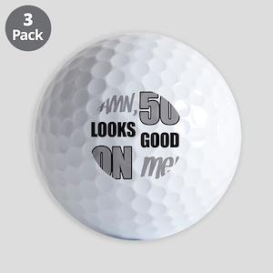 Funny 50th Birthday (Damn) Golf Balls