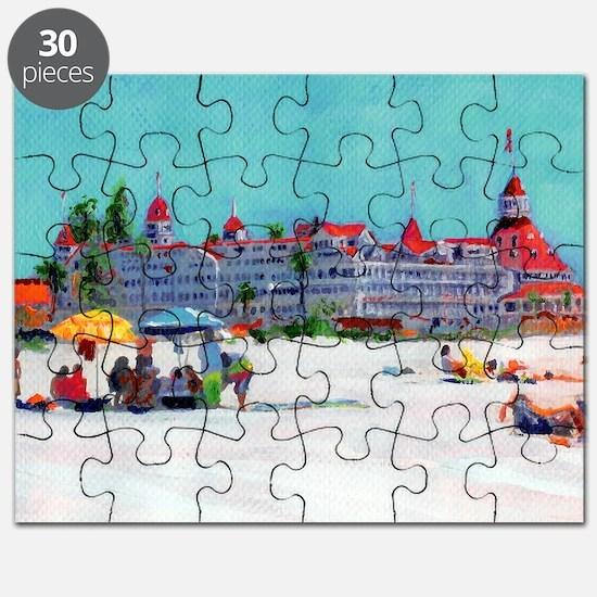 Hotel del Coronado Beach Puzzle