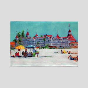 Hotel del Coronado Beach Rectangle Magnet