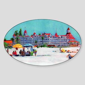 Hotel del Coronado Beach Sticker (Oval)