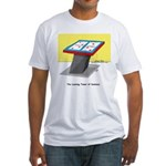 Leaning Tower of Pizza Fitted T-Shirt
