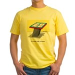 Leaning Tower of Pizza Yellow T-Shirt