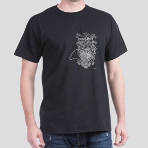 Scateboard Style French Horn Dark T-Shirt