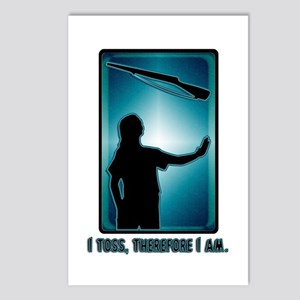 I toss, therefore I am. Postcards (Package of 8)