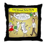 Party Pooper Throw Pillow
