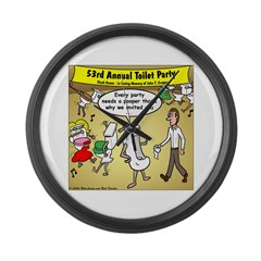 Party Pooper Large Wall Clock