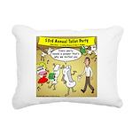 Party Pooper Rectangular Canvas Pillow