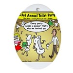 Party Pooper Ornament (Oval)