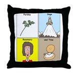Parsley, Sage, Rosemary and Time Throw Pillow