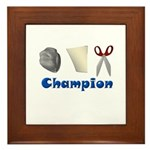 Rock Paper Scissor Champ Framed Tile