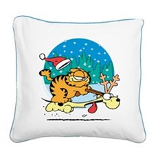 Odie Reindeer Square Canvas Pillow