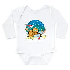 Odie Reindeer Long Sleeve Infant Bodysuit