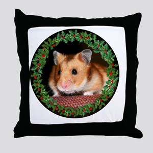 RoundHamster6 Throw Pillow