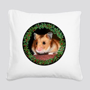 RoundHamster6 Square Canvas Pillow