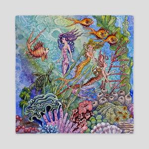mermaid puzzel.jpg Queen Duvet