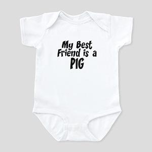 Pig BEST FRIEND Infant Bodysuit