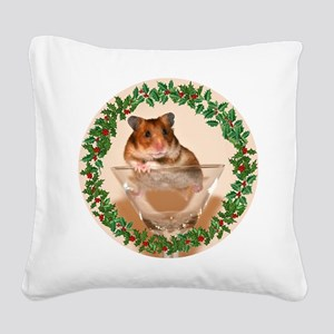 RoundHamster5 Square Canvas Pillow