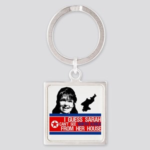 palin_north_korea_from_house Square Keychain