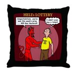 Hells Lottery Throw Pillow