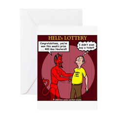 Hells Lottery Greeting Card