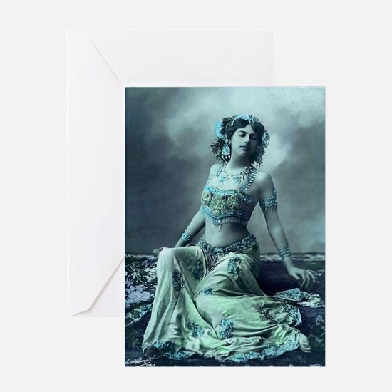 Vintage Bellydance Wall Calendar Jan Greeting Card