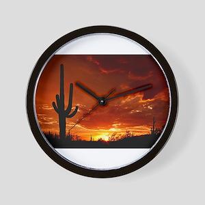 Saguaro Sunset-2 Wall Clock