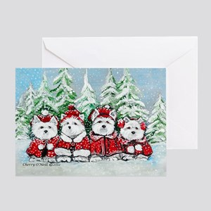 Christmas Westies Greeting Cards