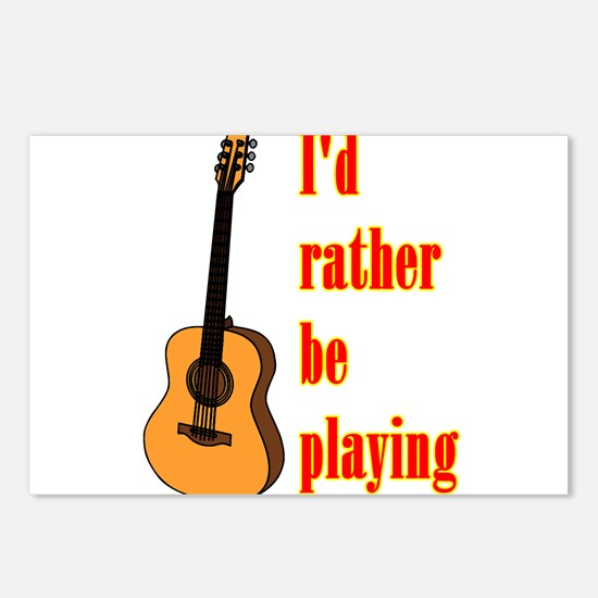 RatherBePlayingGtr Postcards (Package of 8)