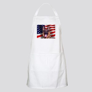 Patriotic German Shepherd BBQ Apron