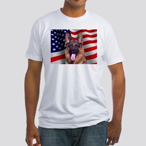 Patriotic German Shepherd Fitted T-Shirt