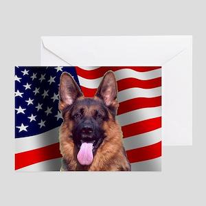 German shepherd greeting cards cafepress patriotic german shepherd greeting cards package m4hsunfo