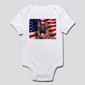 Patriotic German Shepherd Infant Bodysuit