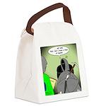 Death Afraid of Dying Canvas Lunch Bag
