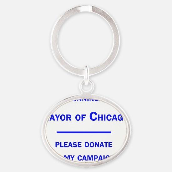 chicagomayor Oval Keychain