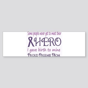 Proud Preemie Mom Bumper Sticker