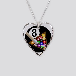 8ball_large Necklace Heart Charm