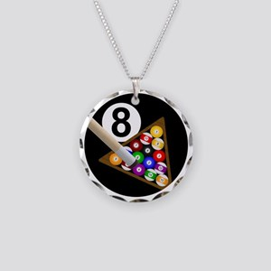 8ball_large Necklace Circle Charm
