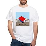 Books on Tape White T-Shirt