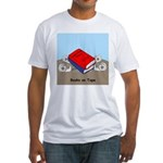 Books on Tape Fitted T-Shirt
