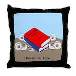 Books on Tape Throw Pillow