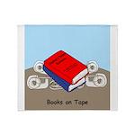 Books on Tape Throw Blanket