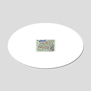 murphyslaws_mousepad 20x12 Oval Wall Decal