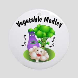Vegetable Medley Ornament (Round)