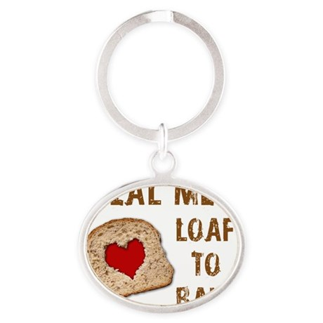 Real Men Apron Oval Keychain
