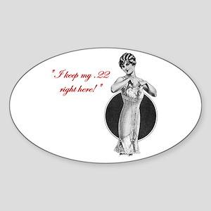 Twenty Two Caliber Oval Sticker