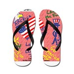 American Graffiti Flip Flops
