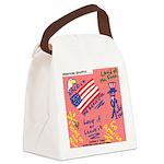 American Graffiti Canvas Lunch Bag