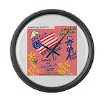 American Graffiti Large Wall Clock