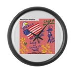 American Graffiti Large Wall Clock